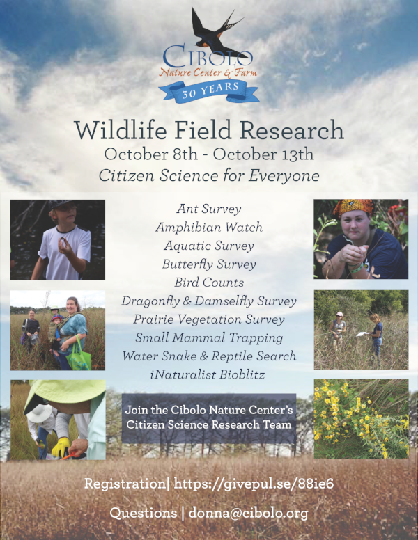 CNC:  Fall Wildlife Field Research Week
