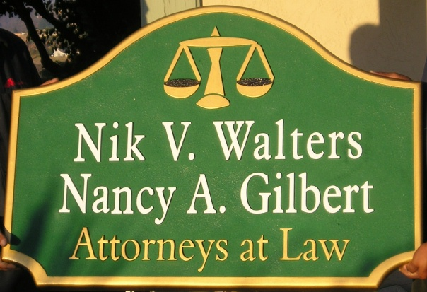 A10100 - Sandblasted HDU Attorney Sign