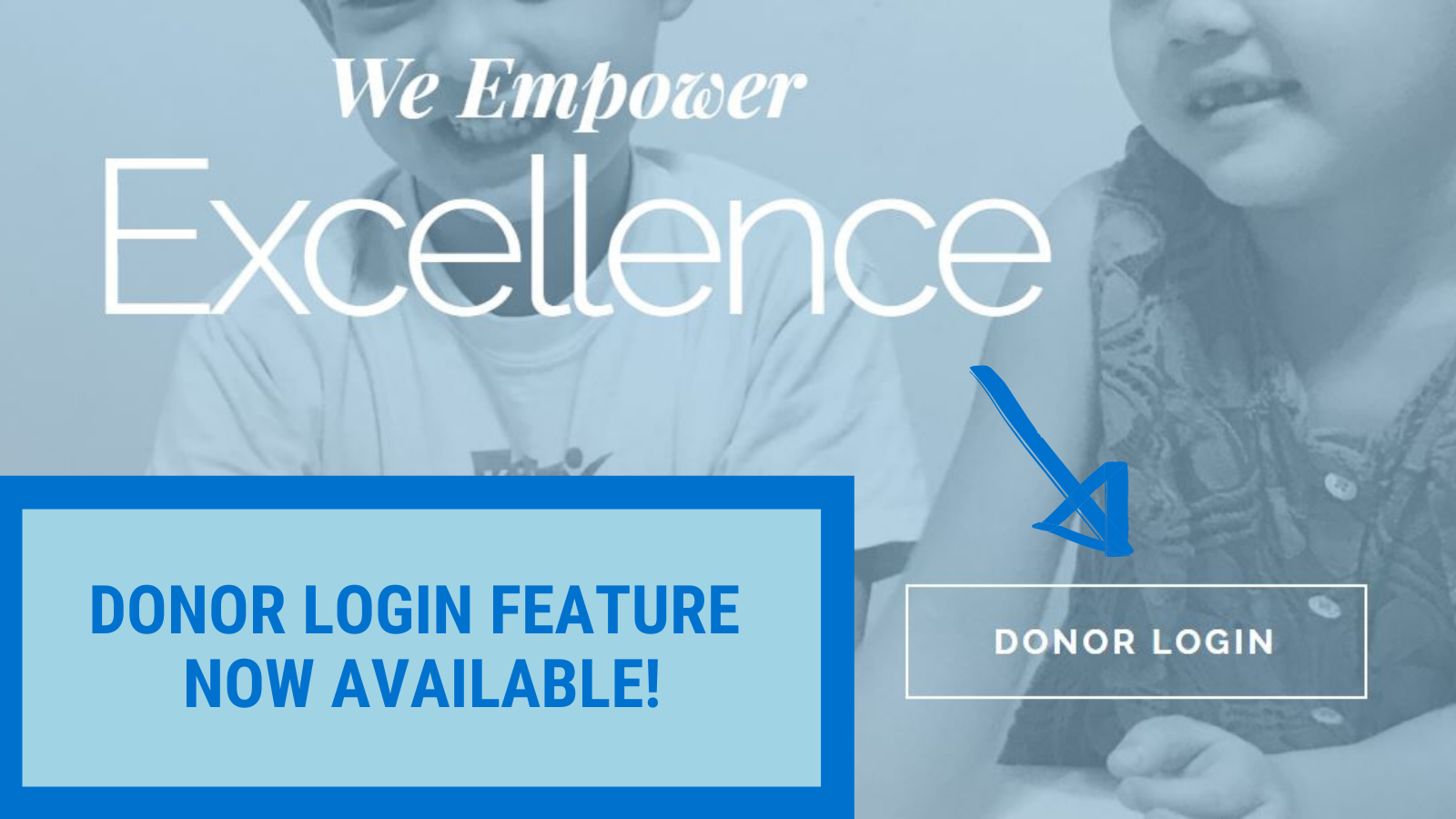Donor Login Feature Now Available!