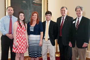 Rep. Paul Beckman & Jimmy McLemore with Hannah Walker & family
