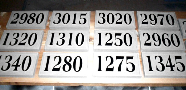 T29207 -  Carved  High-Density-Urethane (HDU) Room Number Plaque with Raised  Numbers