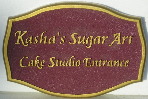 "SA28460 - Sign for ""Sugar Art"" Cake Studio Entrance"