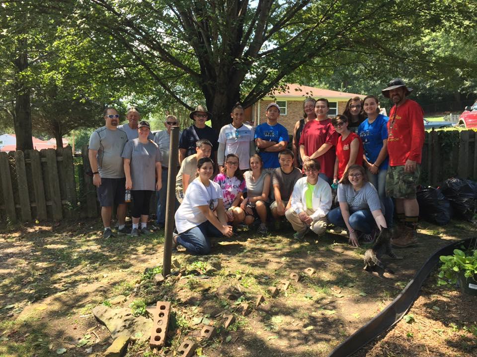 Catoosa County Habitat for Humanity Volunteers Help Veteran with Yard Clean-Up