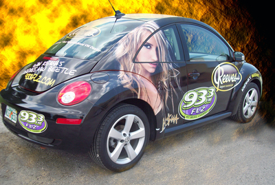 VW Bug Car Wrap 1