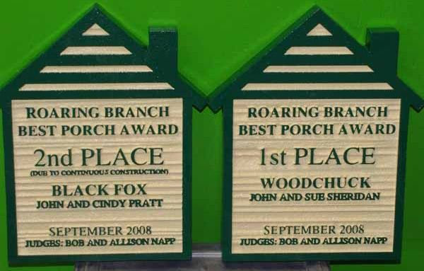KA20975 - Home-of-Month Sign for HOA, Best Porch