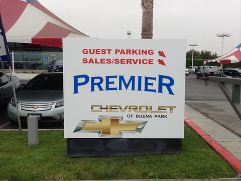 Auto dealership customer parking signs Orange County