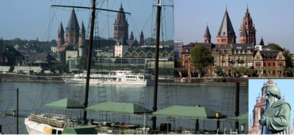Image of River Rhine in Mainz, Germany