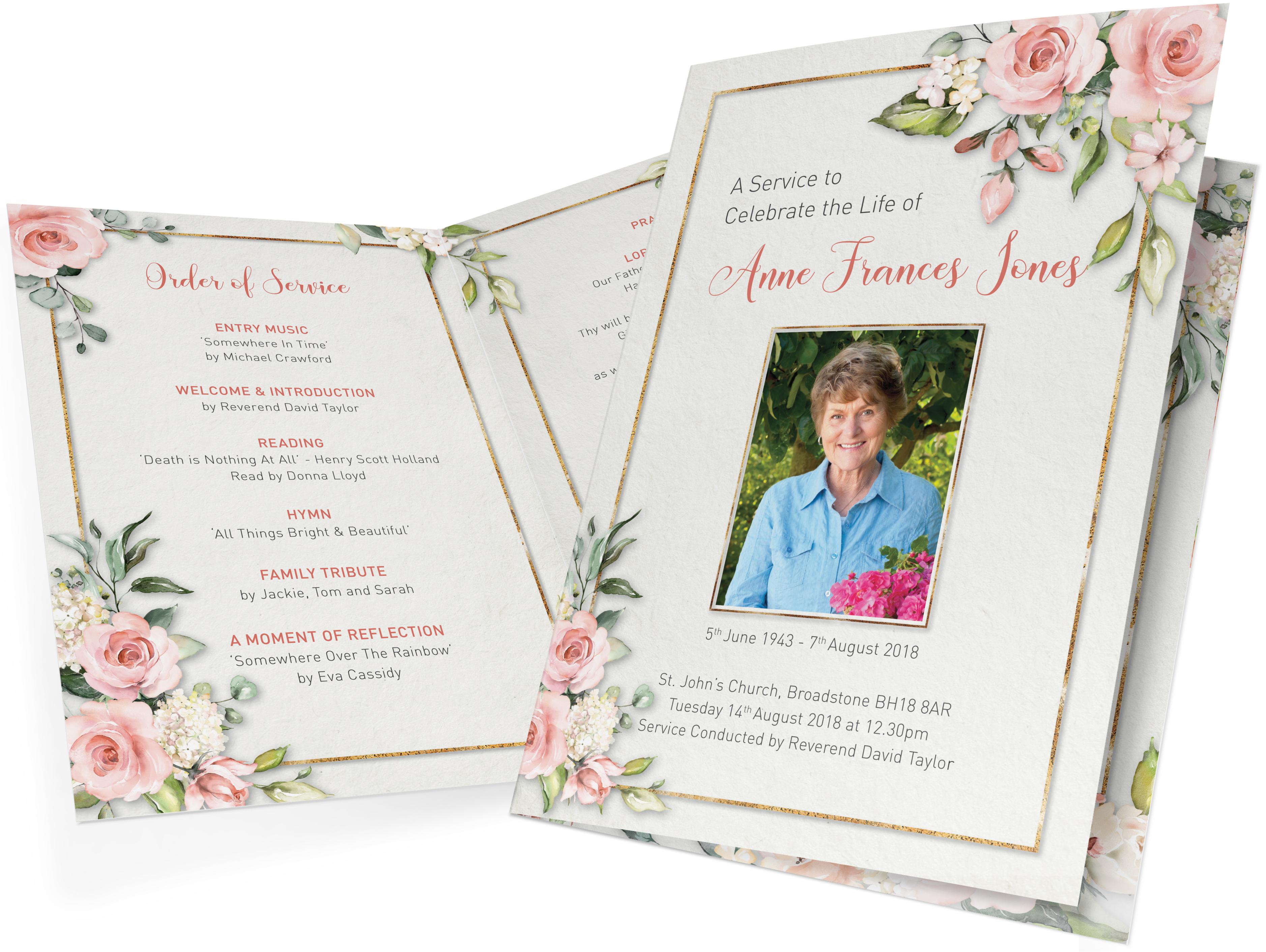 Funeral Order of Service Printing Sample