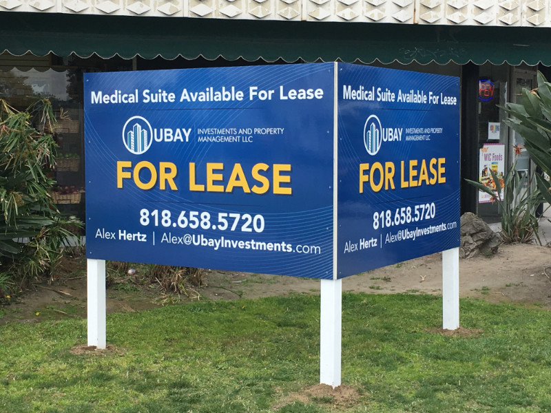 V-Shaped Real Estate Signs in Anaheim CA