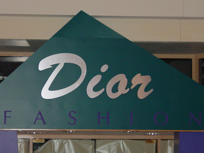 Dior Fashion Storefront Sign