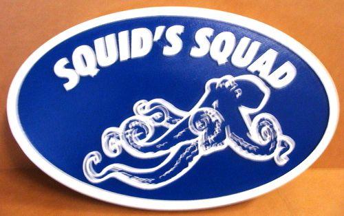 L21676 - Carved HDU Squid Sign