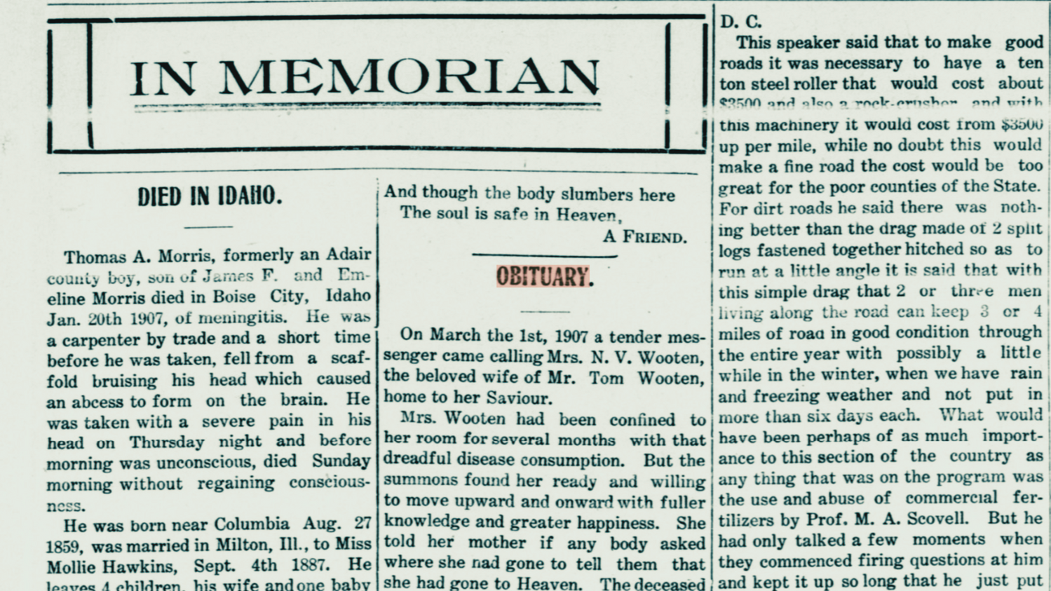 Our Tips for Finding Your Kentucky Ancestor's Death Notice