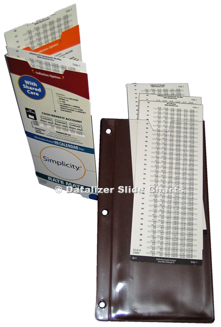 2 Hinged Slide Charts: 4 working panels, extra slides & pouch