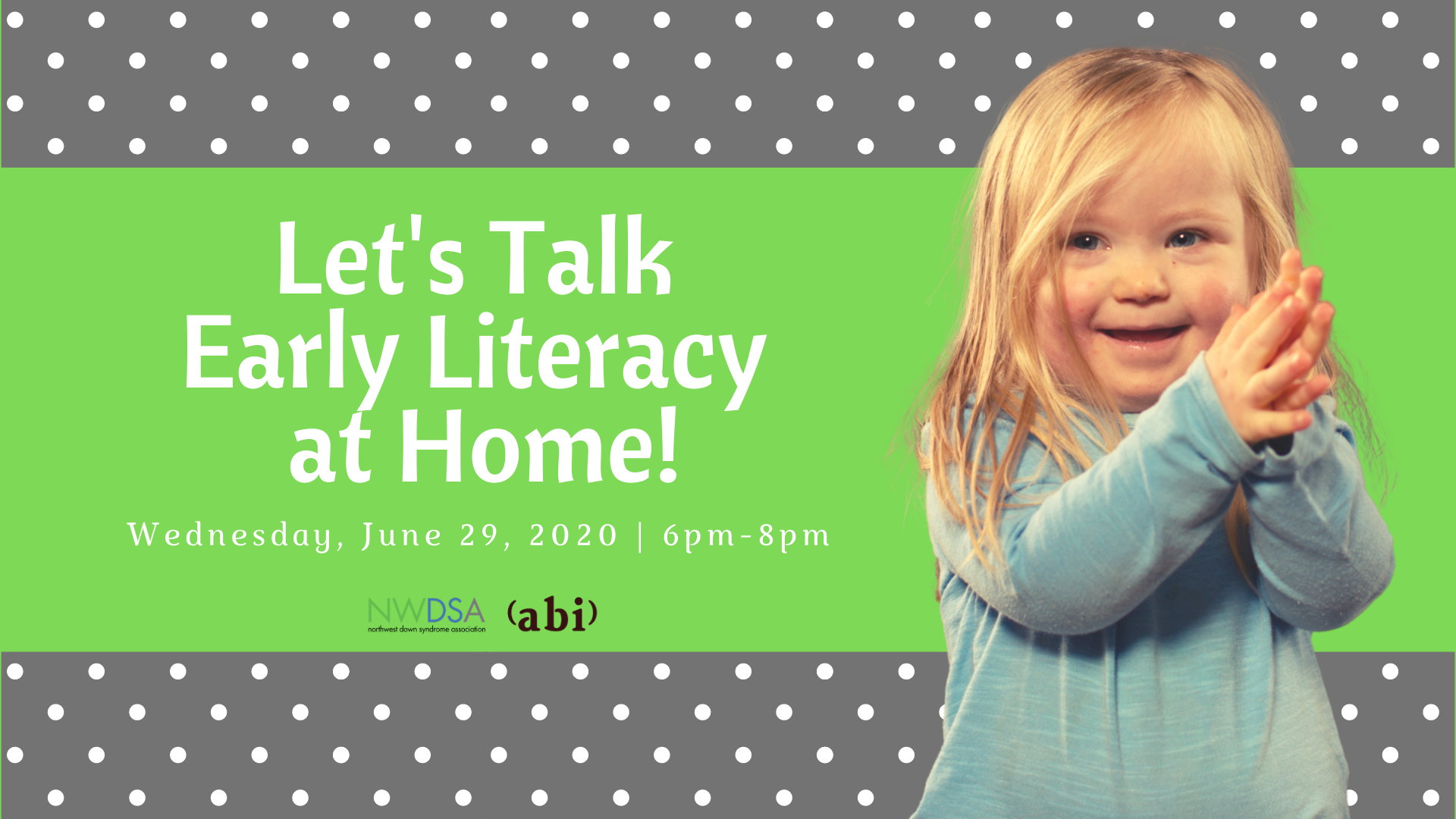 Let's Talk Early Literacy at Home!