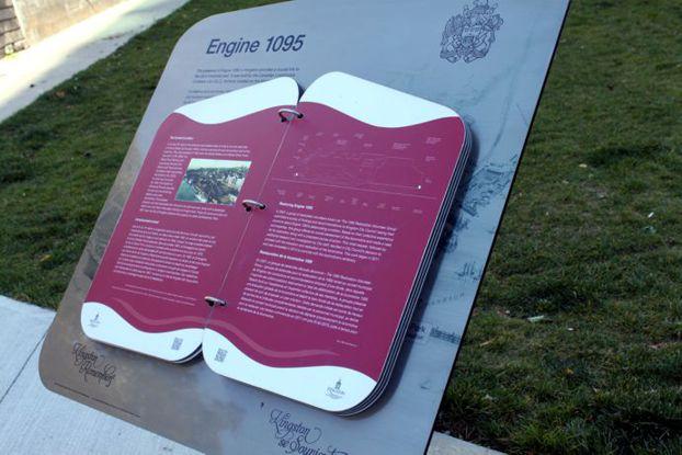 Engine 1095 Plaque