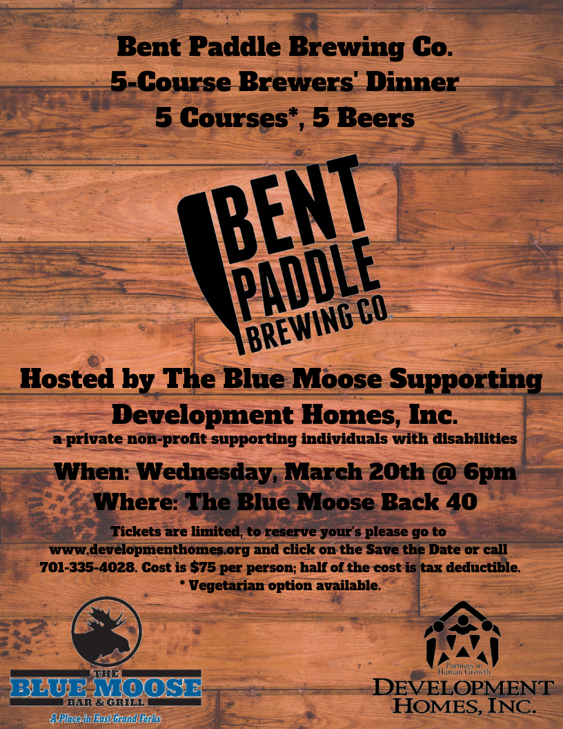 Bent Paddle Brewing Co. 5-Course Brewers Dinner