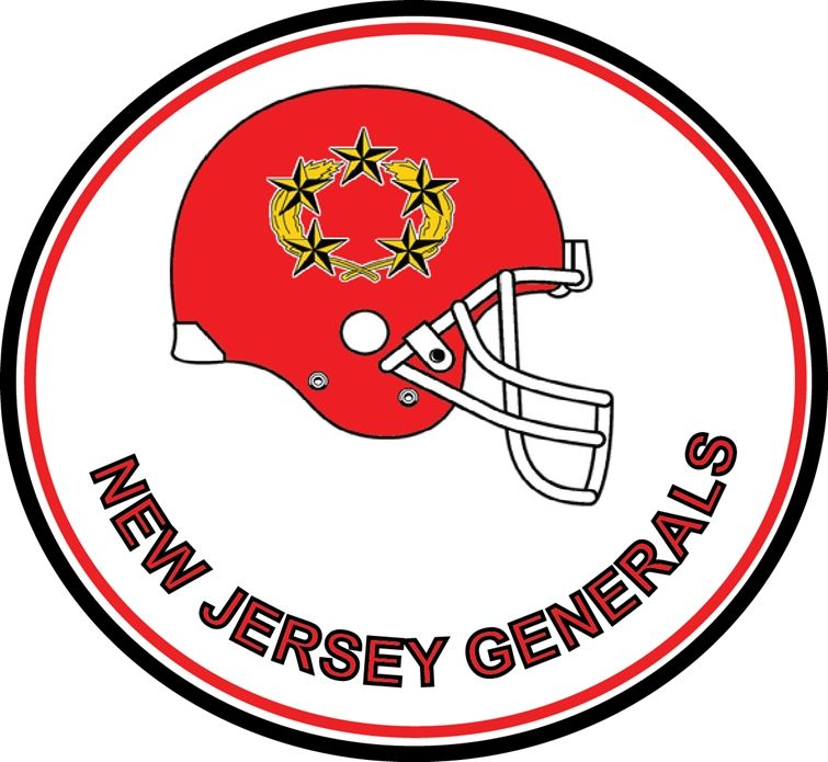 WP-1175 - Carved Wall Plaque of Logo New Jersey Generals,  NFL, Artist Painted