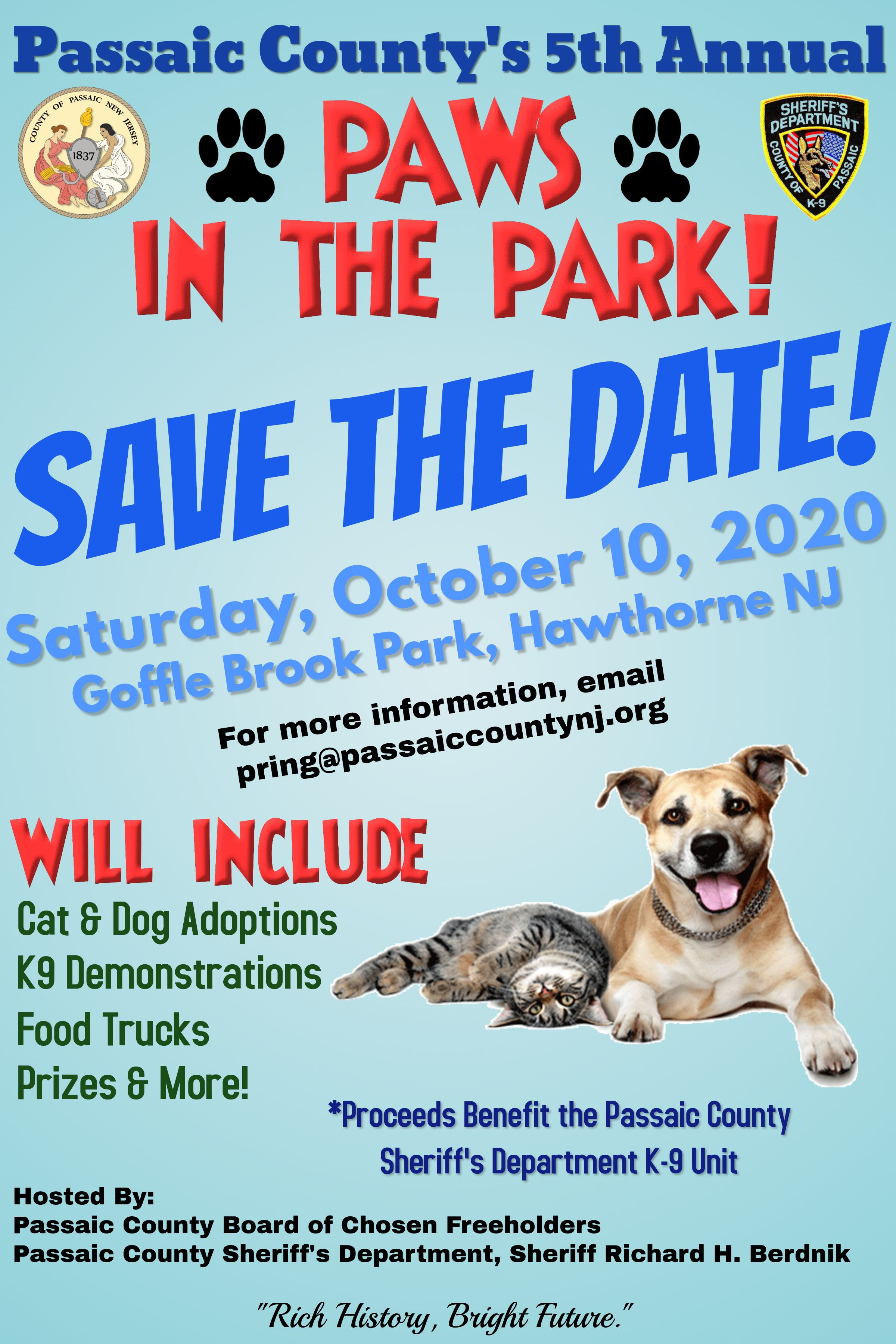 Passaic County's 5th Annual Paws In The Park!