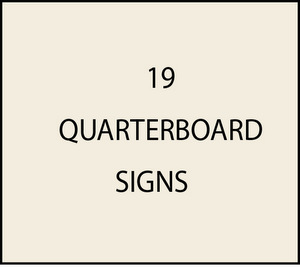 L21850 - Quarterboard Signs with 3-D Art