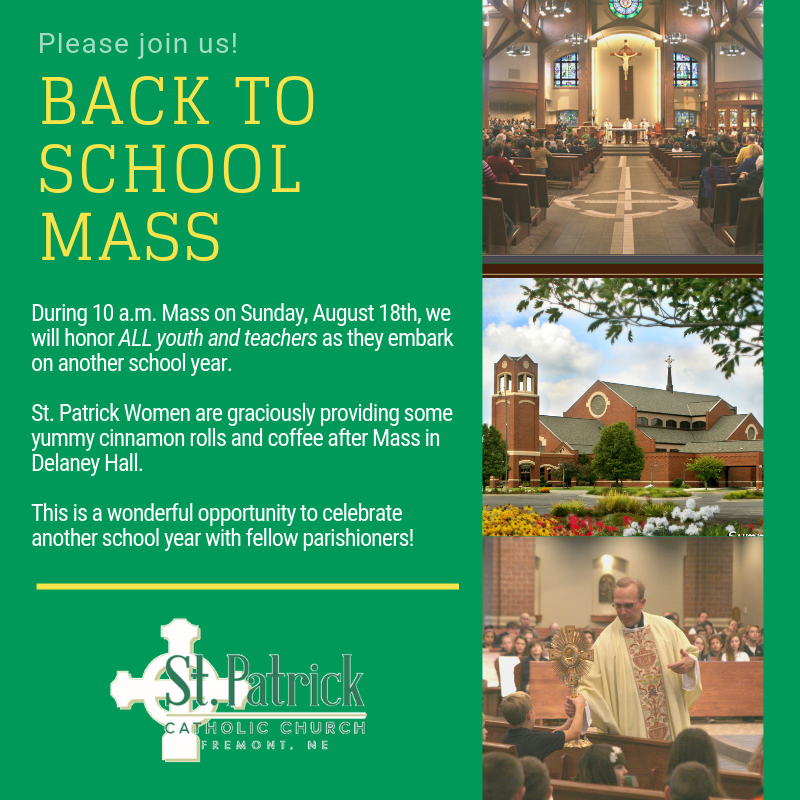 Back to School Mass
