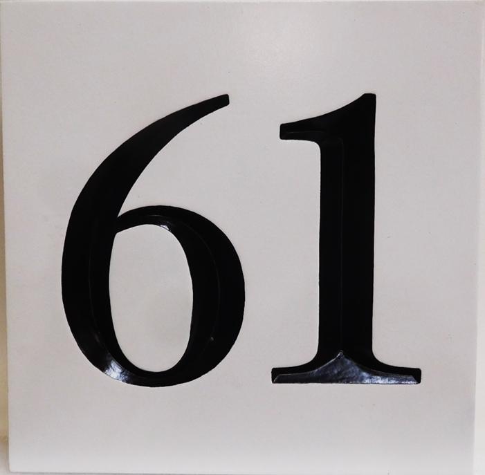 I18894 - Carved Engraved HDU Address Number Plaque, 2.5-D Artist-Painted