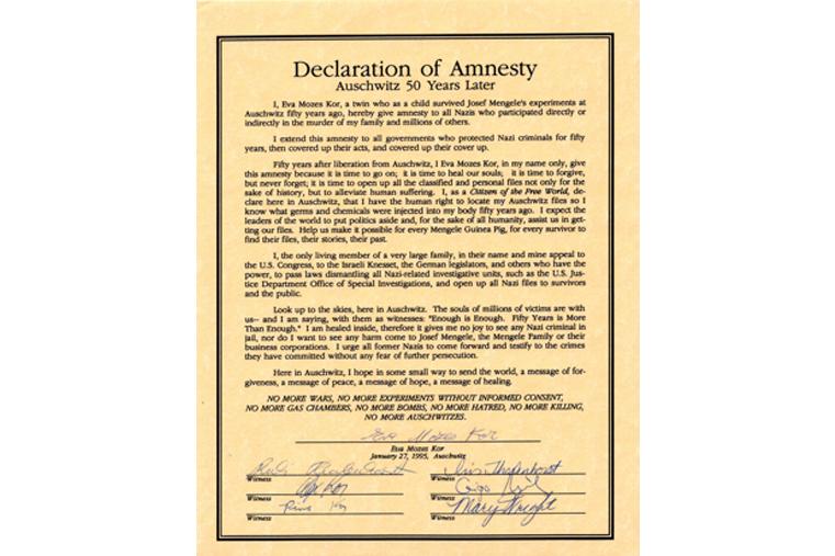 January 27, 1995: Eva's Declaration of Amnesty