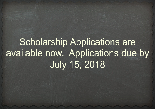 2018 Scholarship Applications