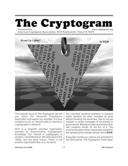 ACA Cryptogram