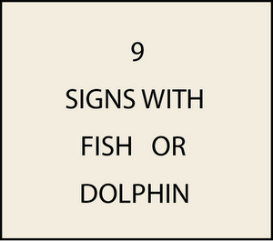 L21356 -  Signs with Fish or Dolphins
