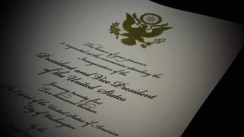 2013 Presidential Inauguration Invites