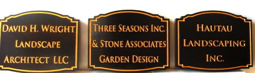 SA28554 - Three Carved HDU Signs for Landscaping, Landscape Architect  Companies