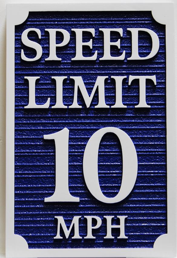 KA20680 - Carved HDU Speed Limit-10 TrafficSign