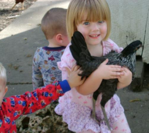 Mallory & her chicken