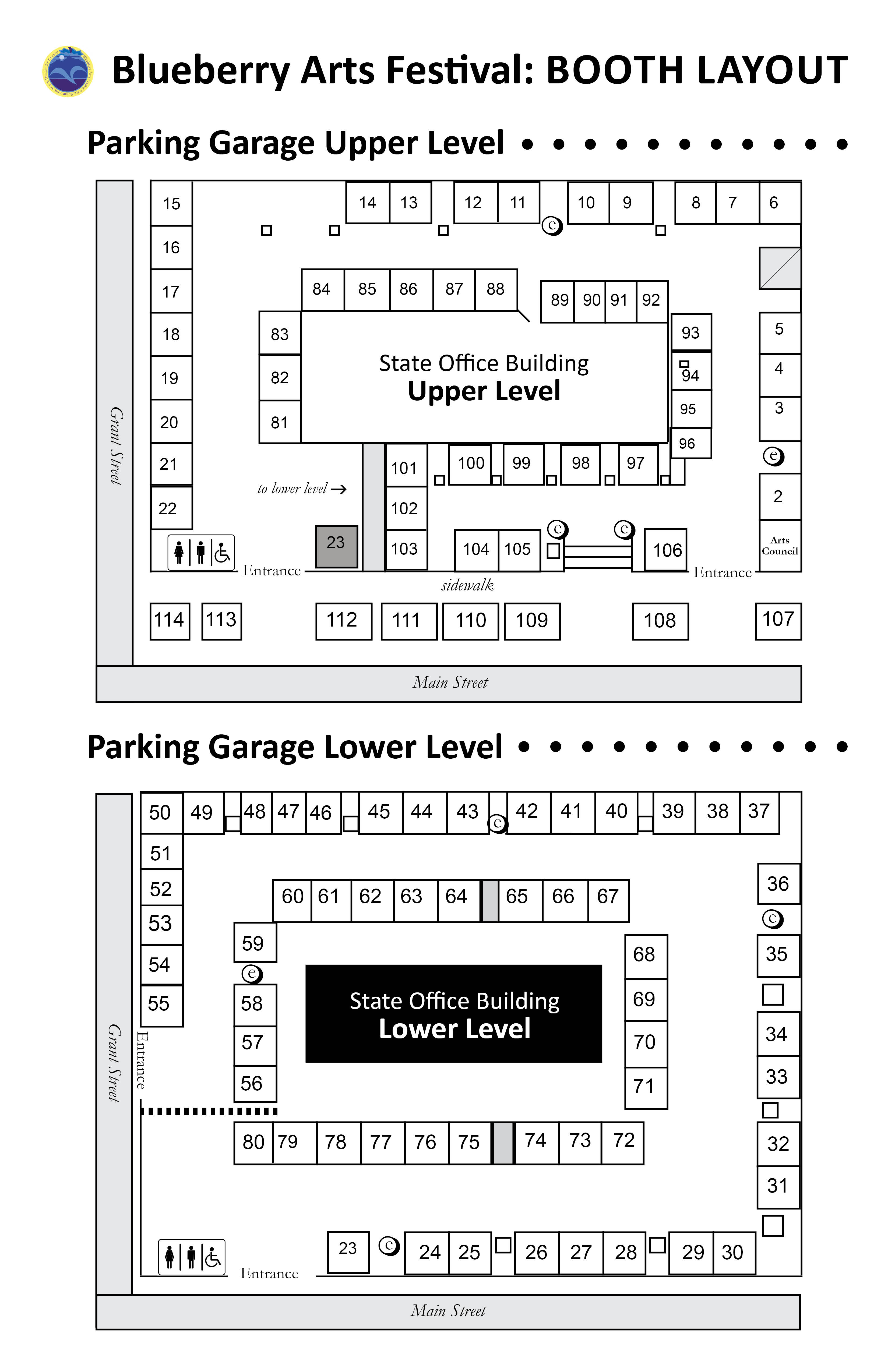 2019 State Building Booth Layout Map