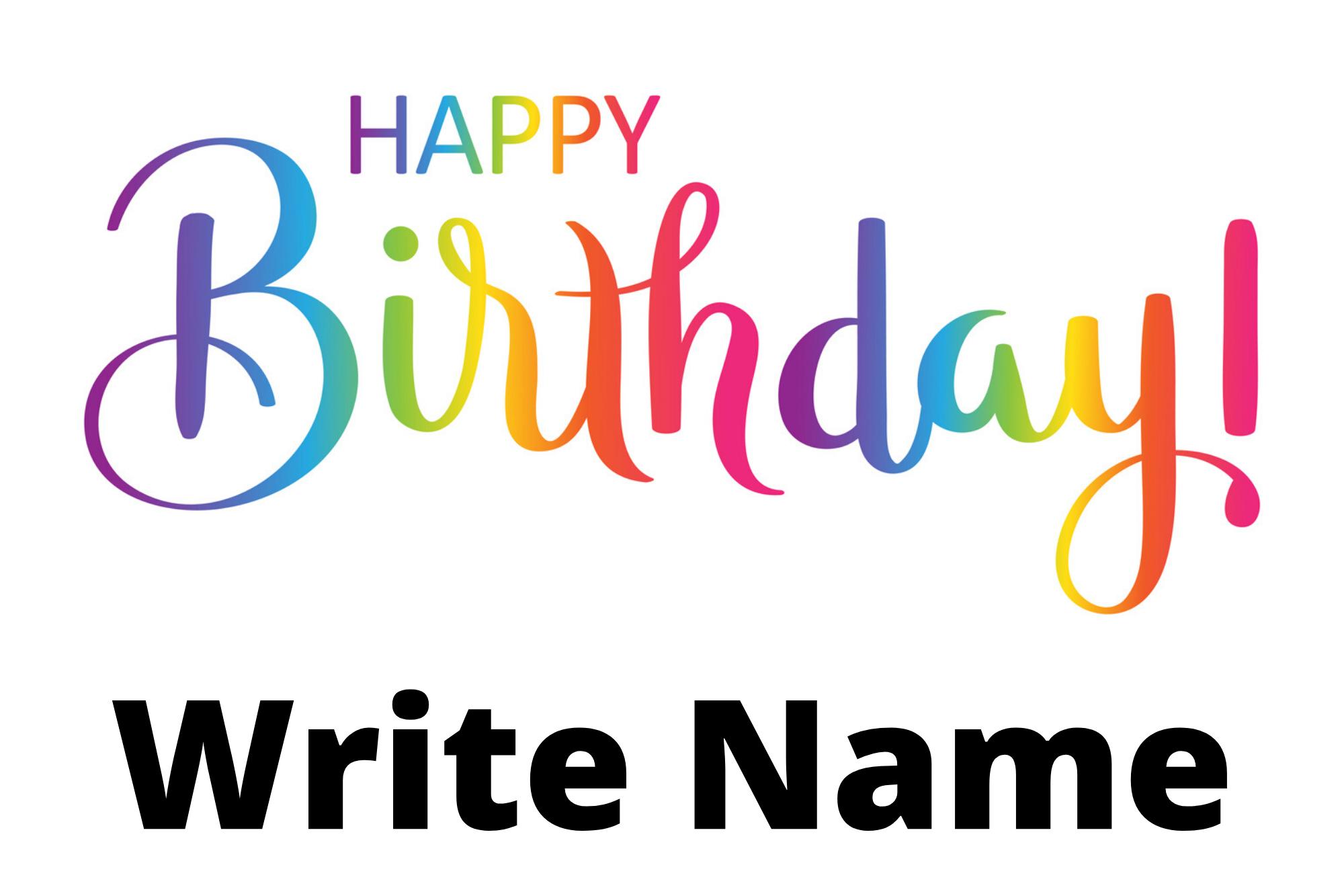 Happy Birthday Colorful