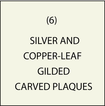 M7350 - ( 6) Silver and Copper-Leaf Gilded Plaques
