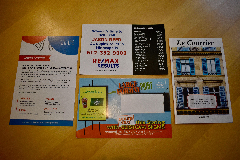 Every Door Direct Mailing- Minuteman Press Central Minneapolis