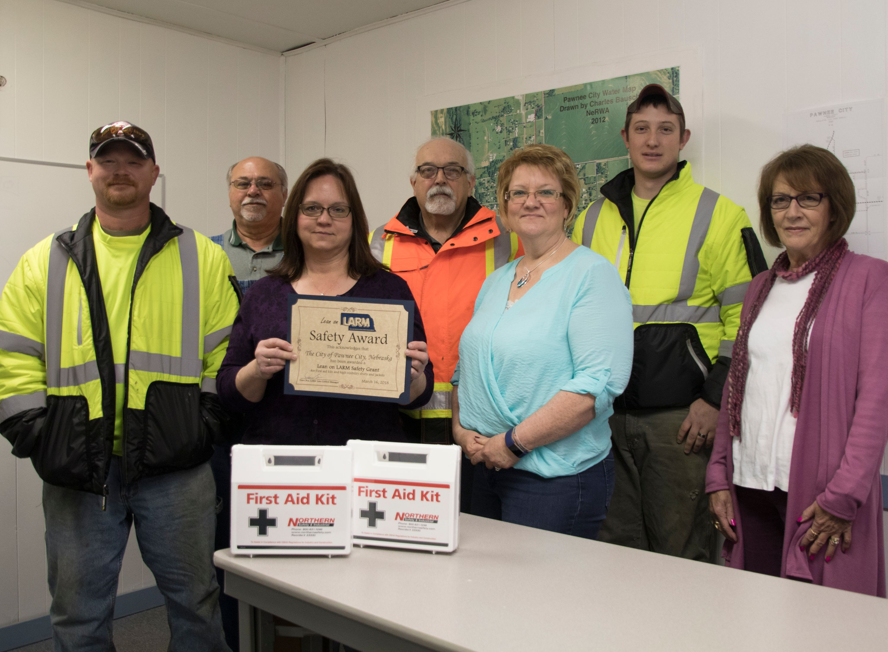 Pawnee City Uses Grant for First Aid Kits, High-Vis Jackets