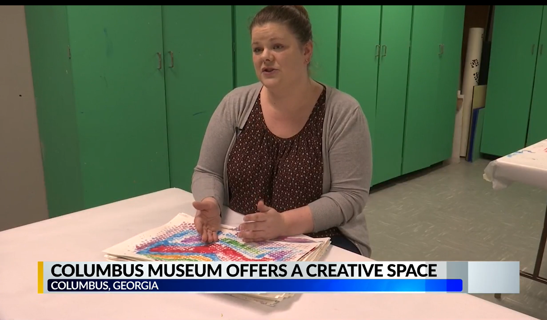 The Columbus Museum is partnering with low income neighborhoods to provide free art lessons to kids
