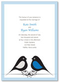 Love birds wedding invitation | Kwik Kopy Design and Print Centre Halifax