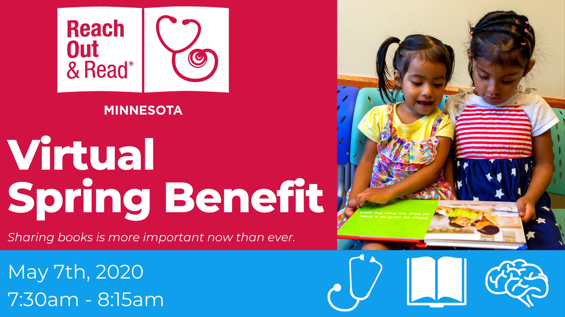 Virtual Spring Benefit with Reach Out and Read MN