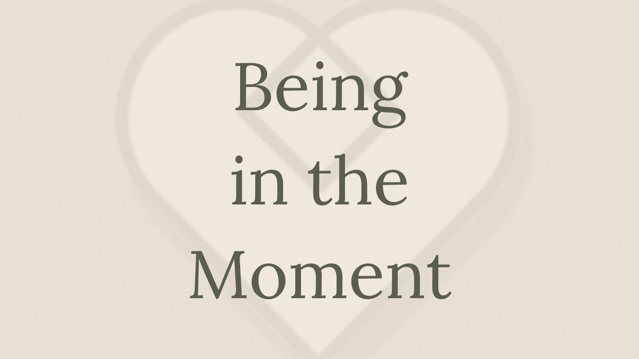 Mental Health Minute: Being In The Moment