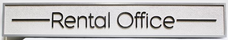 KA20576 - Carved High-Density-Urethane (HDU). Rental Office Sign