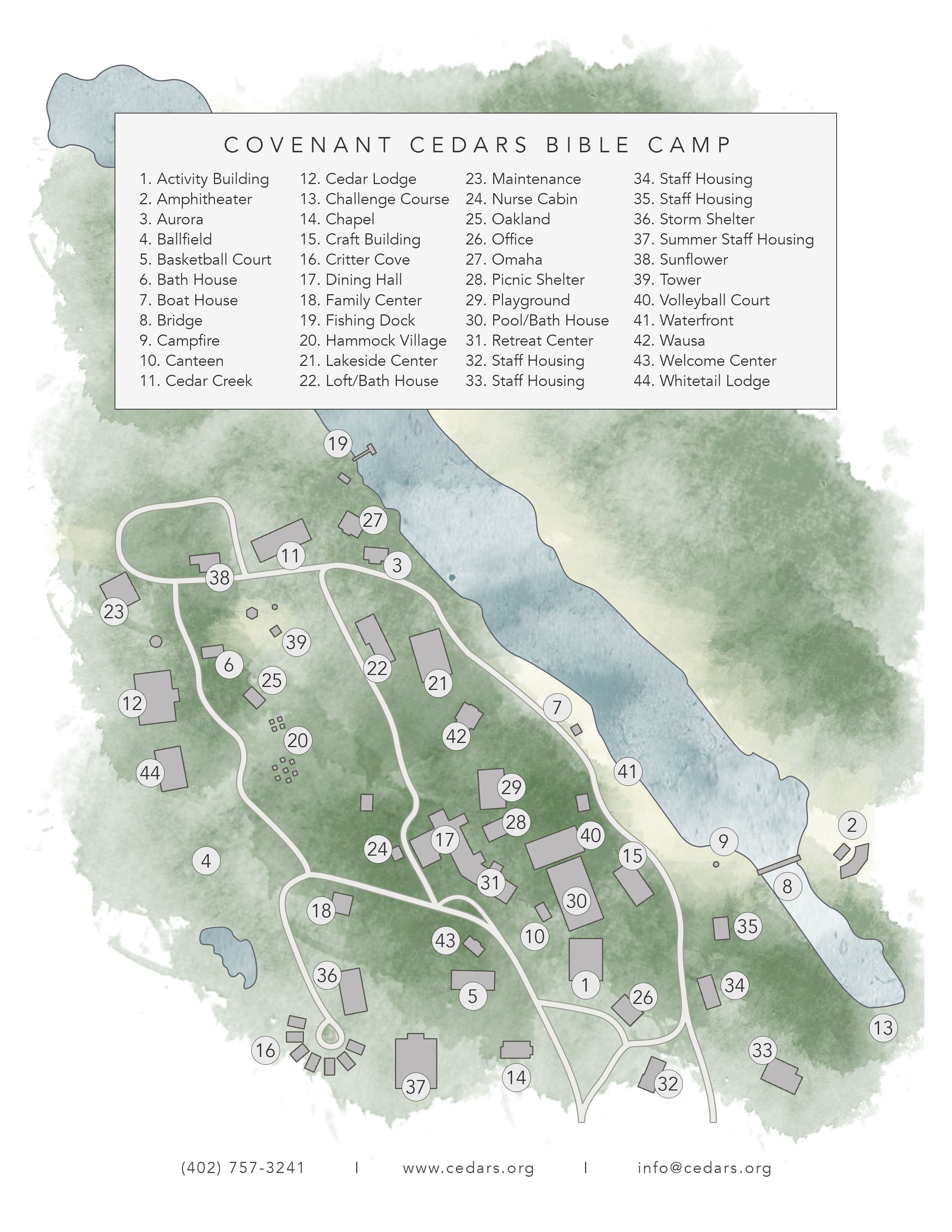 Covenant Cedars Map