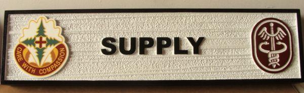 V31820 - Carved and Sandblasted HDU Room Sign (Supply Room)