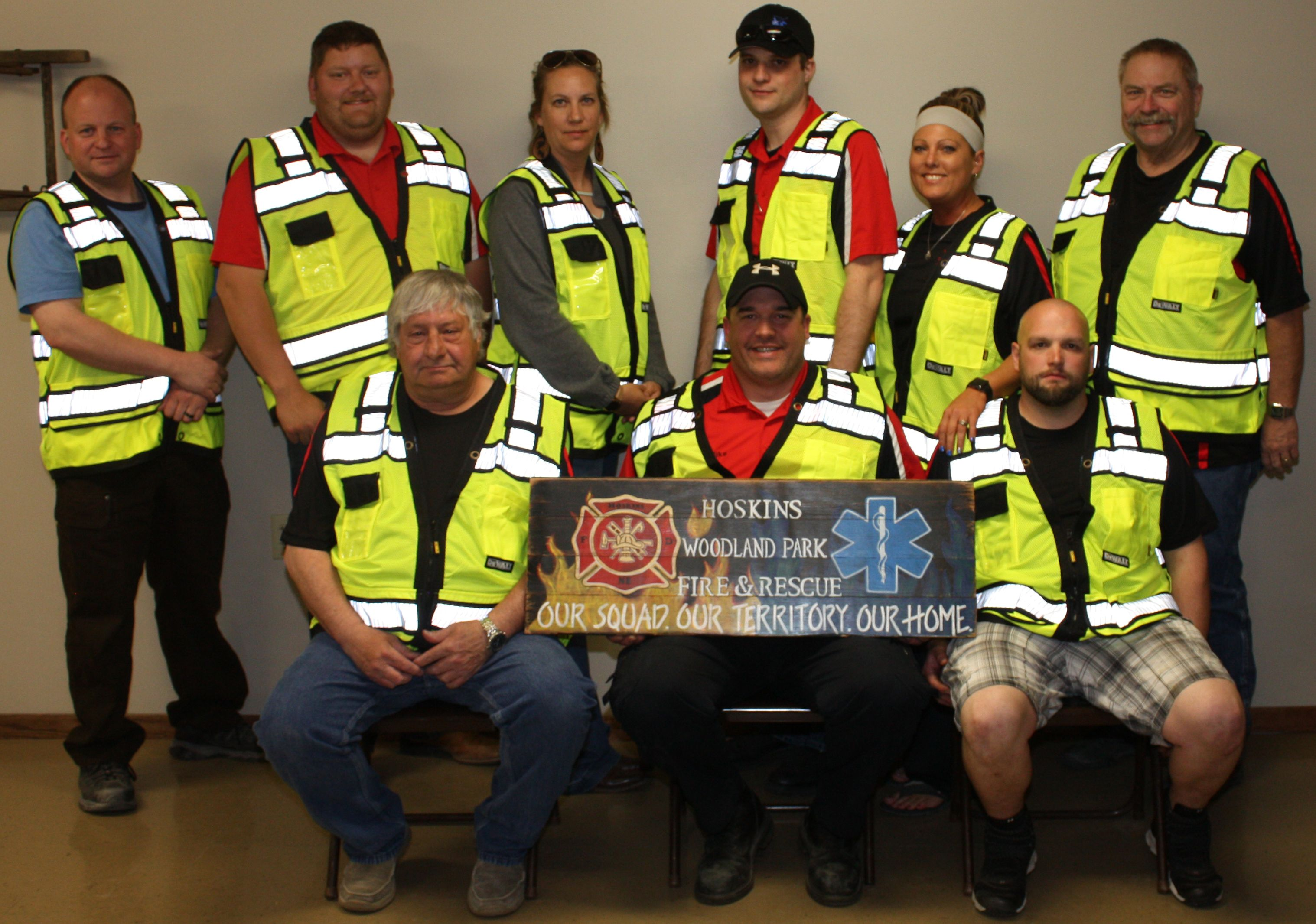 Hoskins Woodland Park Rescue Squad outfitted with new safety apparel