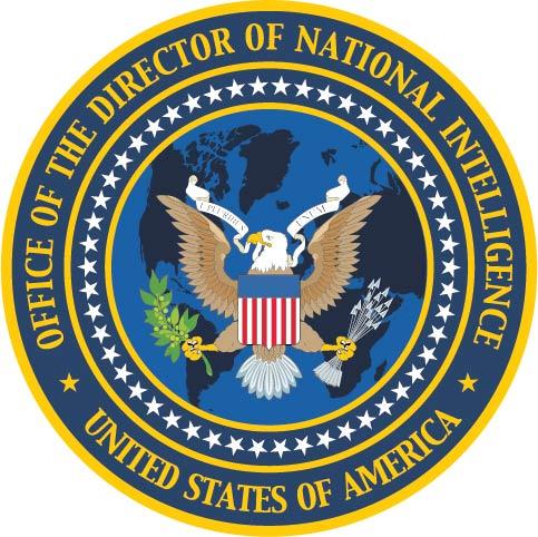 U30388 - Director of National Intelligence Seal Carved Wood Plaque