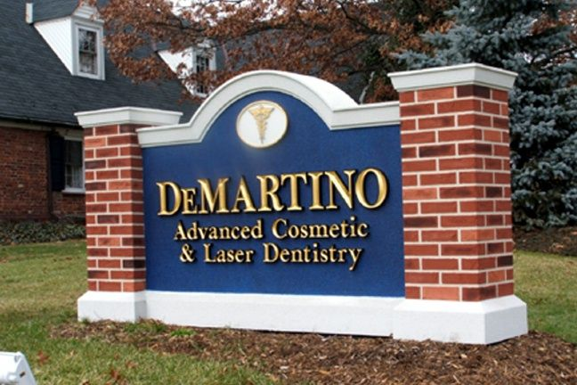 BA11511 – Dental Office Monument Sign for Driveway Entrance