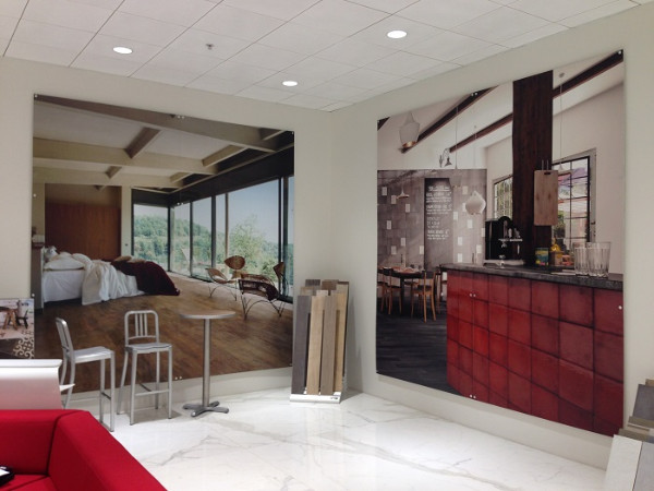 Showroom wall murals for Orange County businesses