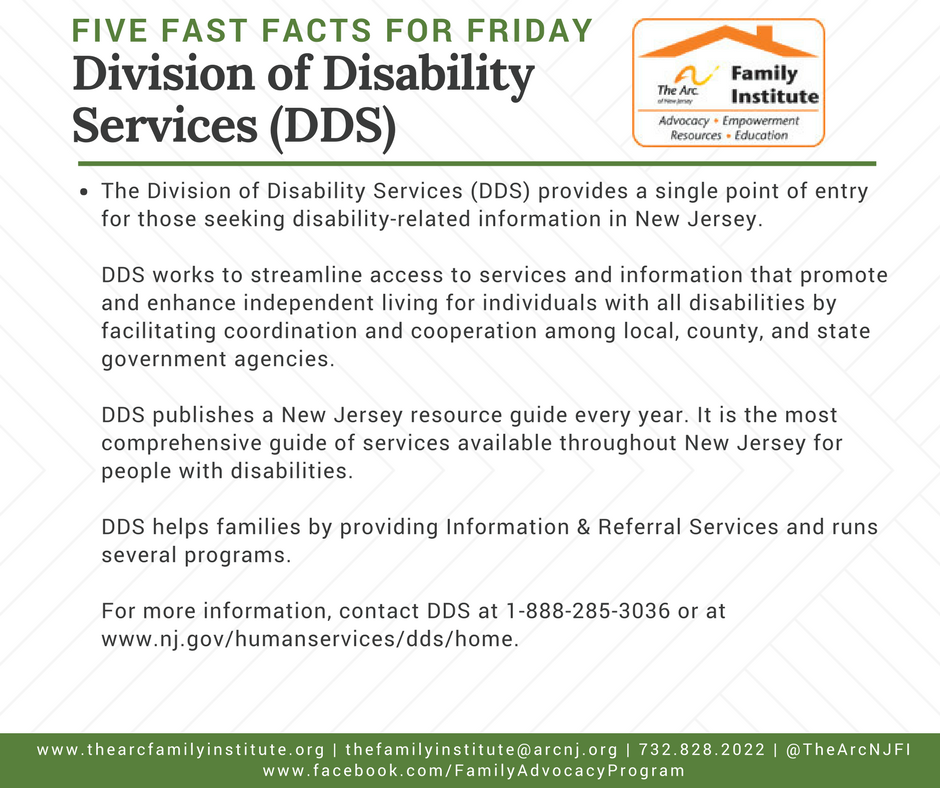 Division of Disability Services (DDS)